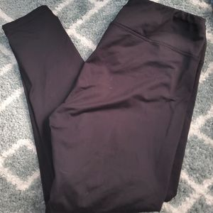 NWOT Fleece lined black leggings size XL